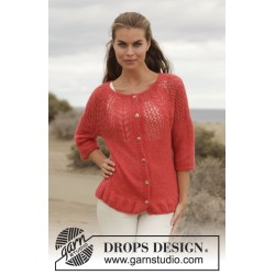 Image of   Cheryl cardigan by drops design s-xxxl drops brushed alpaca silk