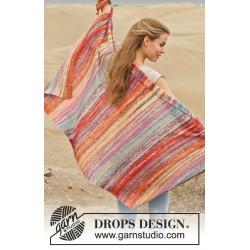 Morning Sun by DROPS Design Bredde: 84 cm. Længde: 144 cm. DROPS FABEL