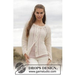 Image of   Linda cardigan by drops design s-xxxl drops brushed alpaca silk garn