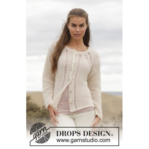 Linda Cardigan by DROPS Design S-XXXL DROPS BRUSHED ALPACA SILK