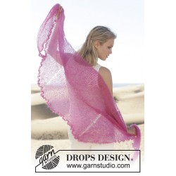 Image of   Spring is here by drops design 200 x 58cm drops kid-silk garn drops