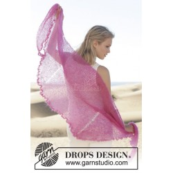 Spring Is Here by DROPS Design 200 x 58cm DROPS KID-SILK