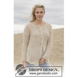 Stormy Weather Cardigan by DROPS Design S-XXXL DROPS BRUSHED ALPACA SILK
