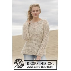 Stormy Weather by DROPS Design S-XXXL DROPS BRUSHED ALPACA SILK