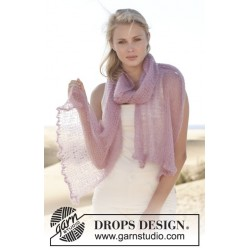 Image of   Nerine by drops design 190 x 33cm drops kid-silk garn drops sjaler