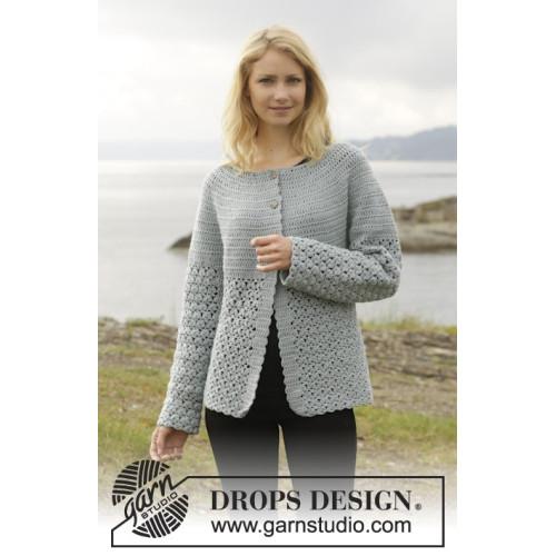 Yesterday Cardigan by DROPS Design S-XXXL DROPS MERINO EXTRA FINE
