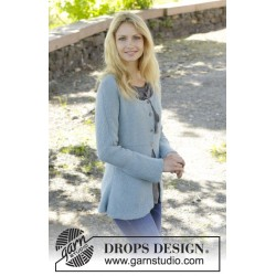 Image of   Clear water by drops design s-xxxl drops babyalpaca silk garn cardigan