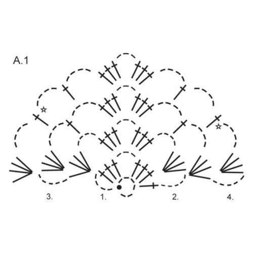 Overcast by DROPS Design Bredde øverst: ca 150 cm. Højde midt bagpå: 75 cm. DROPS BRUSHED ALPACA SILK
