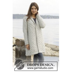Image of   By the lake jacket by drops design s-xxxl drops cloud garn cardigan