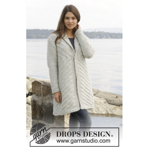 By The Lake Jacket by DROPS Design S-XXXL DROPS CLOUD