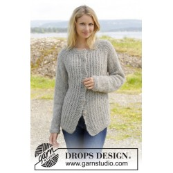 Image of   Lazy afternoon jacket by drops design s-xxxl drops brushed alpaca