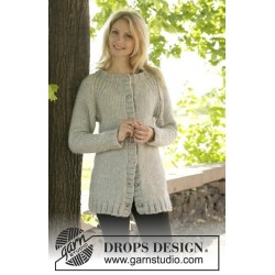 Virginia Cardigan by DROPS Design S-XXXL DROPS ESKIMO