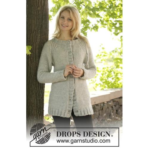 Virginia Cardigan by DROPS Design S-XXXL DROPS ESKIMO