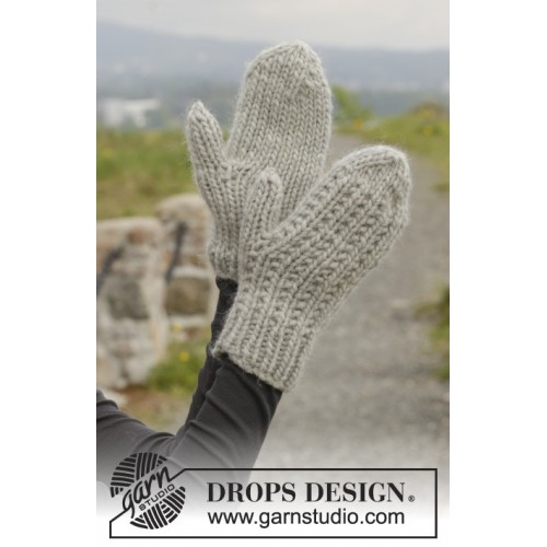 Astrid Mittens by DROPS Design S-XL DROPS ESKIMO