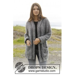 Image of   Everything after by drops design s-xxxl drops kid-silk garn cardigan