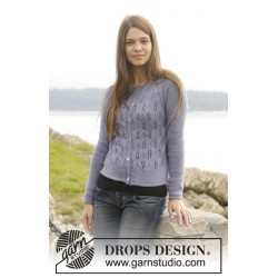 Image of   Feathers by drops design s-xxxl drops babyalpaca silk garn cardigan