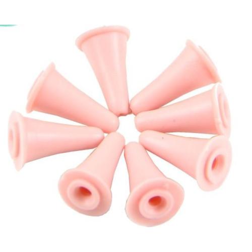 Maskestopper i gummi, lille, 2 sæt, til pinde under 8mm ,ass. farver
