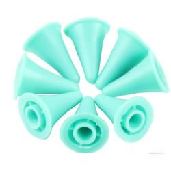 Maskestopper i gummi, stor, 2 sæt, til pinde fra 6mm ,ass. farver