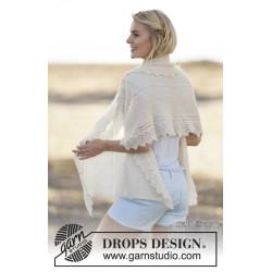 Sharon by DROPS Design Bredde: ca 62 cm. Længde: ca 142 cm DROPS BRUSHED ALPACA SILK