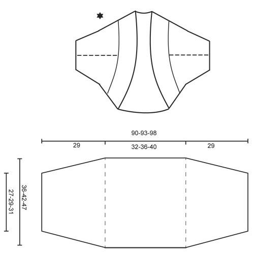 Mette by DROPS Design S-XXXL DROPS BABYALPACA SILK
