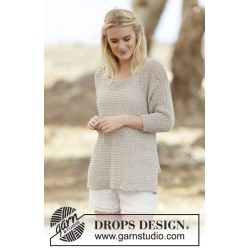 Perly May by DROPS Design S-XXXL DROPS BOMULL-LIN