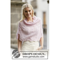 Image of   Embrace by drops design s-xxxl drops brushed alpaca silk garn poncho