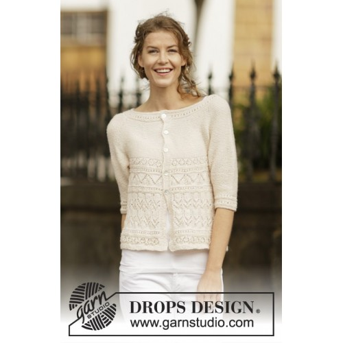 Timeless Beauty Cardigan by DROPS Design S-XXXL DROPS BABYALPACA SILK