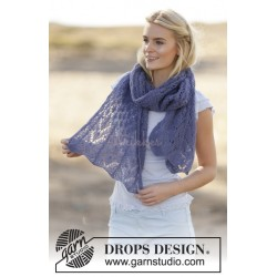 Fleur de Provence by DROPS Design One-size DROPS BRUSHED ALPACA SILK