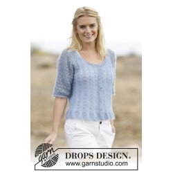 Image of   Hannah cardigan by drops design s-xxxl drops kid-silk garn