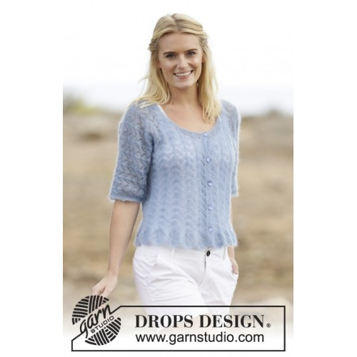 Hannah Cardigan by DROPS Design S-XXXL DROPS KID-SILK