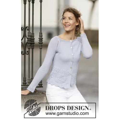 Juliana Cardigan by DROPS Design S-XXXL DROPS BABYALPACA SILK