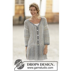 Image of   Lady grey by drops design s-xxxl drops fabel garn cardigan