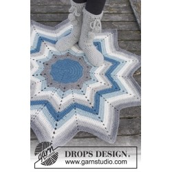 Pole Star by DROPS Design ca 112 cm i diameter (fra spids til spids) DROPS ESKIMO