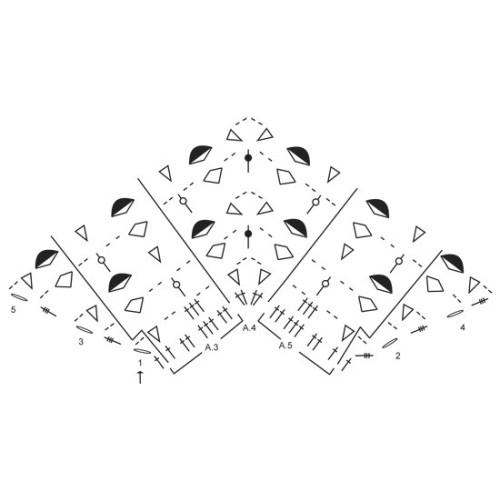 Evening In Paris by DROPS Design Længde midt på: Ca 73 cm. Bredde: Ca 146 cm. DROPS BABYALPACA SILK