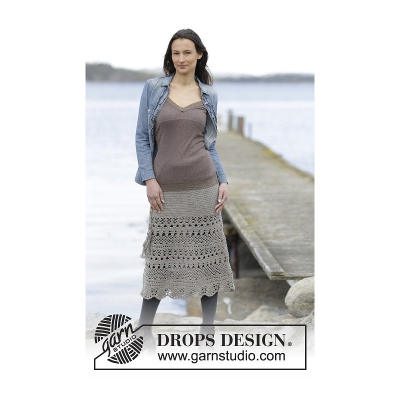 Lady Lace by DROPS Design S XXXL DROPS MERINO EXTRA FINE