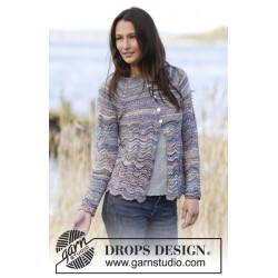 Image of   Arctic ocean cardigan by drops design s-xxxl drops fabel garn