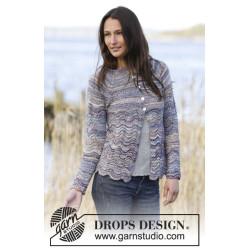 Arctic Ocean Cardigan by DROPS Design S-XXXL DROPS FABEL