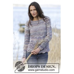 Image of   Arctic ocean sweater by drops design s-xxxl drops fabel garn bluse