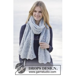 Sweet Carolina by DROPS Design Bredde: ca 48 cm. DROPS BRUSHED ALPACA SILK