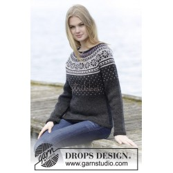 Starry Night Jumper by DROPS Design S-XXXL DROPS KARISMA