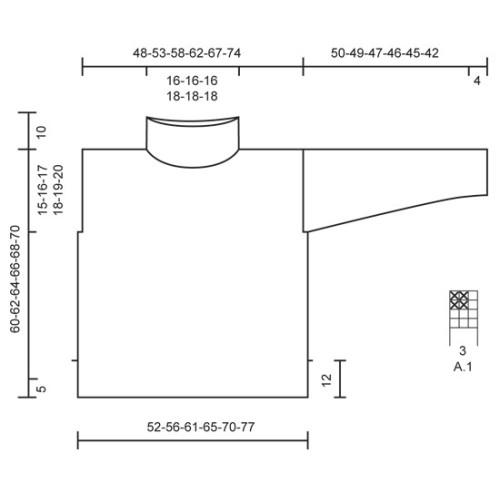 Fair & Squares by DROPS Design S-XXXL DROPS BRUSHED ALPACA SILK