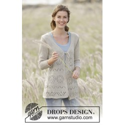 Image of   Late spring by drops design s-xxxl drops bomull-lin garn cardigan