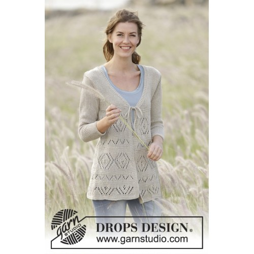 Late Spring by DROPS Design S-XXXL DROPS BOMULL-LIN