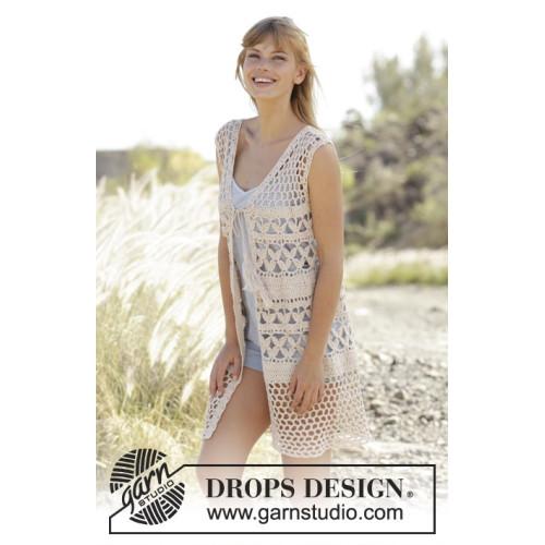 Summer Bliss Vest by DROPS Design S-XXXL DROPS BELLE
