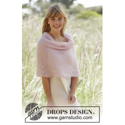 Image of   Candyfloss by drops design s-xxxl drops kid-silk garn poncho