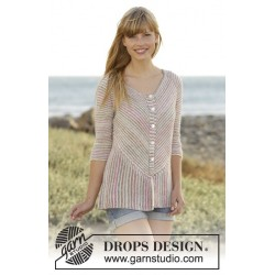 Crayons Cardigan by DROPS Design S-XXXL DROPS FABEL
