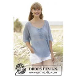 Blue Mist by DROPS Design S-XXXL DROPS KID-SILK