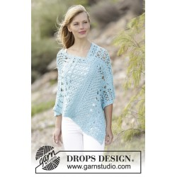 Image of   Sky love by drops design s-xxxl drops paris garn poncho