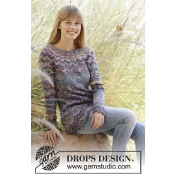 Image of   At sundown by drops design s-xxxl drops fabel garn bluse