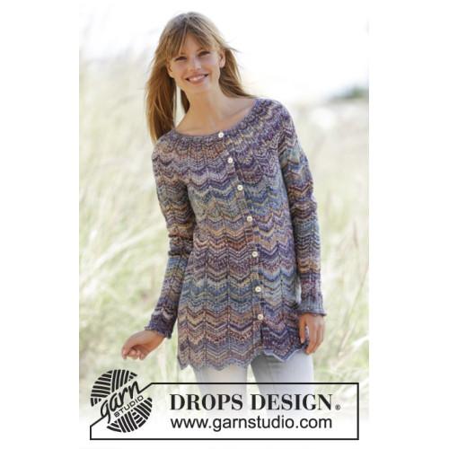 At Sundown Cardigan by DROPS Design S-XXXL DROPS FABEL